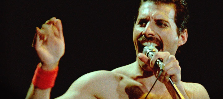 Photo of Freddie Mercury courtesy of www.queenonline.com